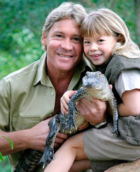 Bindi Irwin and her late father, Steve Irwin