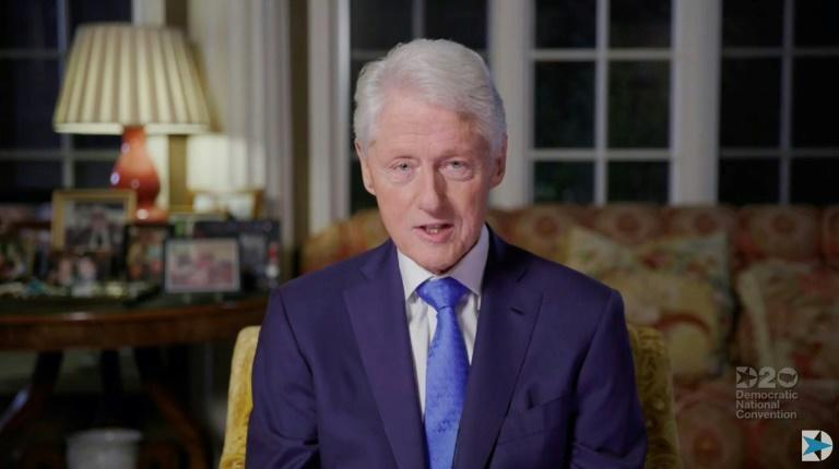 Bill Clinton in a video grab from August 18, 2020 from the online broadcast of the Democratic National Convention