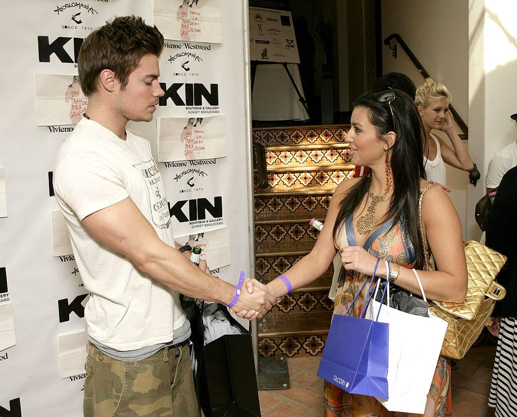 "Josh Henderson and Kim Kardashian. Todd Williamson/<a href=""http://www.wireimage.com"" target=""new"">WireImage.com</a> - May 31, 2007"