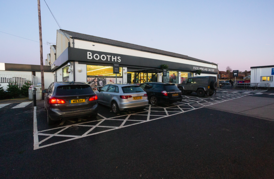 The incident took place in a Booths supermarket in the Lancashire village of Longridge (SWNS)
