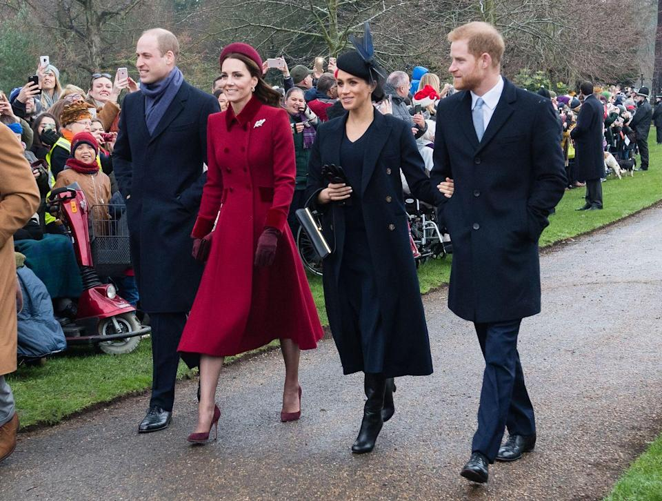 <p>The fab four were reunited on Christmas Day at Church of St Mary Magdalene on the Sandringham estate.</p>