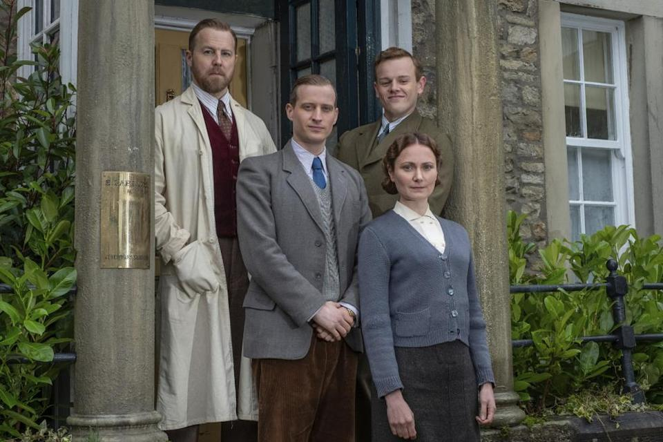 West with Nicholas Ralph, Callum Woodhouse and Anna Madeley in All Creatures Great and Small.