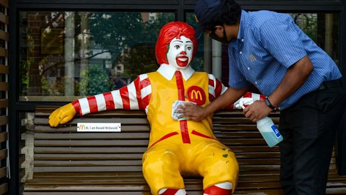 Fast food chains like McDonald's have begun reopening outlets in parts of India.