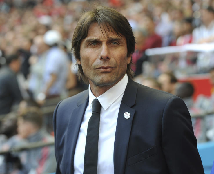 Chelsea manager Antonio Conte looks on during their English FA Cup final soccer match against Manchester United at Wembley stadium in London England. Chelsea has fired manager Antonio Conte after a two-ye