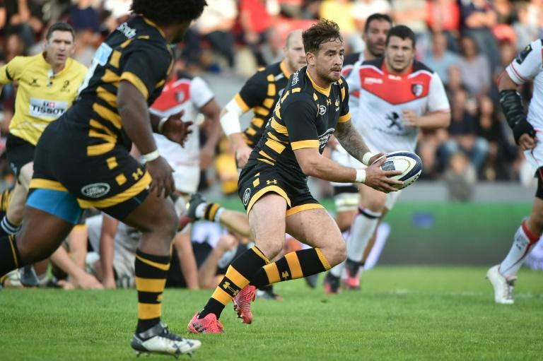 Wasps's fly-half Danny Cipriani runs with the ball during a European Champions Cup rugby union match in Castres, France, in October 2016