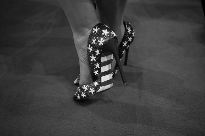 <p>Stars and Stripes pumps seen during the RNC Convention in Cleveland, OH. on July 21, 2016. (Photo: Khue Bui for Yahoo News)</p>
