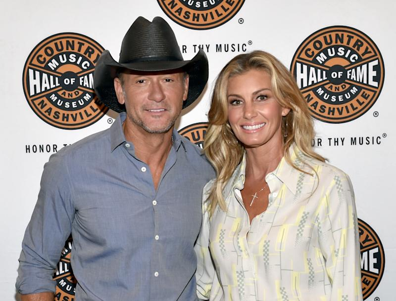 NASHVILLE, TN - MAY 03: Tim McGraw (L) and Faith Hill (R) attend the All Access program at The Country Music Hall Of Fame And Museum's CMA Theater on May 3, 2018 in Nashville, Tennessee. (Photo by John Shearer/Getty Images for Country Music Hall Of Fame & Museum)