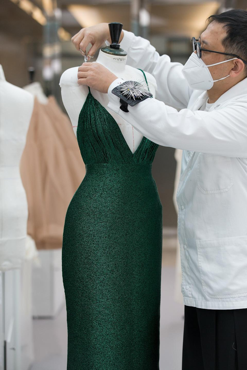 The couture gown took over 300 hours to makeDior