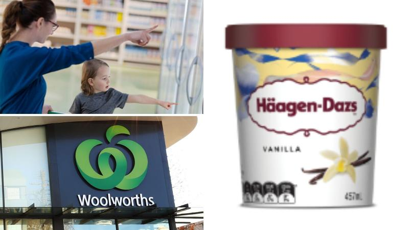 Häagen-Dazs ice cream on sale for 70% off at Woolworths.