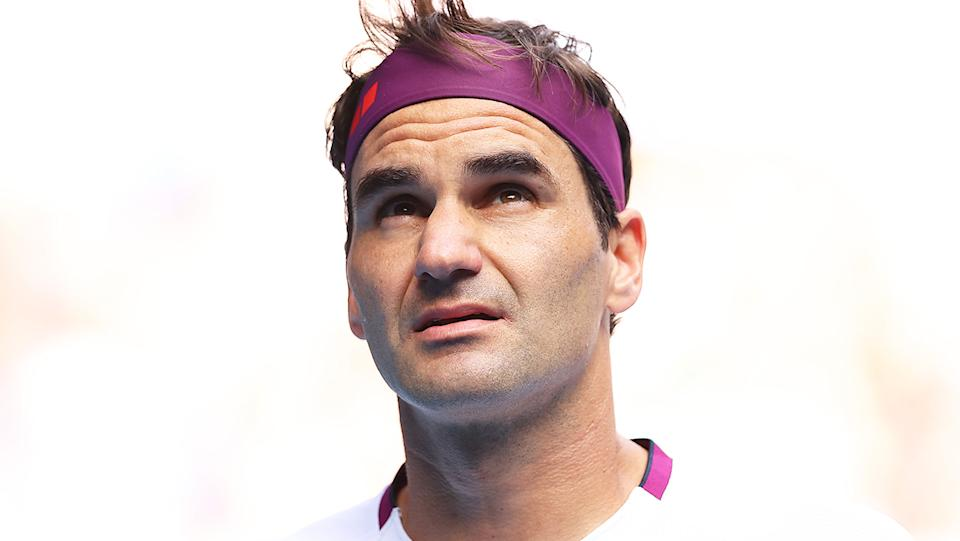 Roger Federer (pictured) looking frustrated during a match.