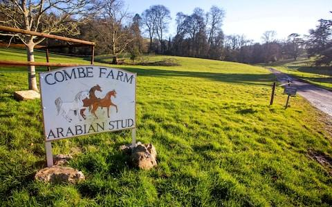 Combe Farm sign - Credit: SWNS