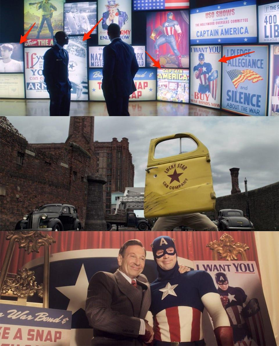 the falcon and the winter solider 101 screens captain america the first avengers nods