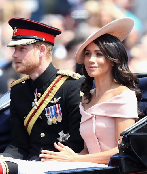 The Duchess of Sussex stepped out to her first-ever Trooping the Colour event on Saturday, in honor of Her Majesty's birthday.