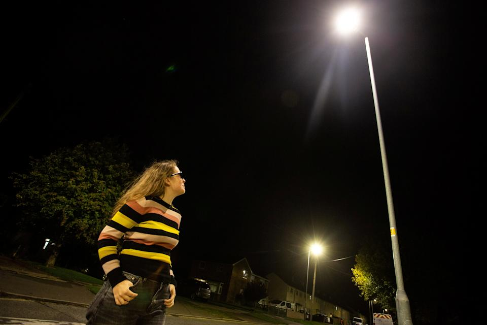 """New street lights in Swindon have drawn complaints from residents who say they are """"brighter than the Sun"""" and """"like floodlights"""". (SWNS)"""