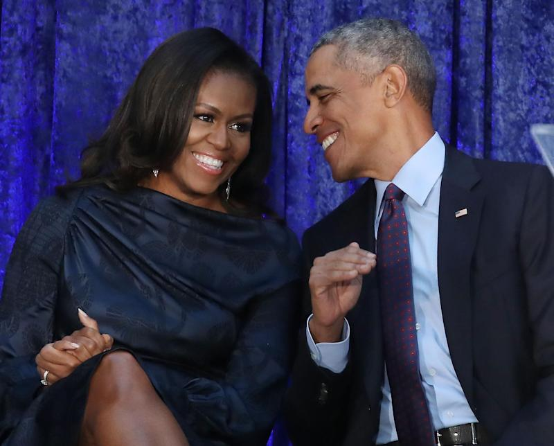 Michelle and Barack Obama marvel at their fee: Getty