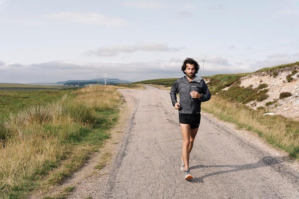 Charles Costa AKA King Charles is running from John O'Groats to Land's End for a mental health charity, with an acoustic performance every night of the journey  (Nahwand Jaff)