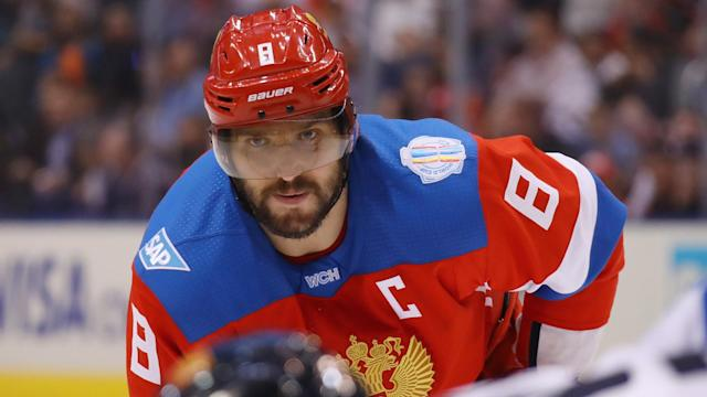 Russia crushed Italy at the IIHF Ice Hockey World Championship as Alex Ovechkin scored his first goal of the tournament.
