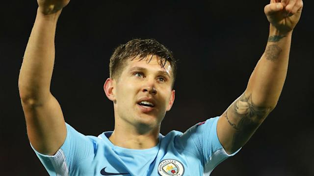 John Stones was the unlikely two-goal hero for Manchester City as Feyernoord were put to the sword and Pep Guardiola hailed the England man.