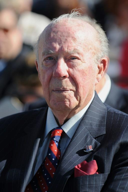 Former US secretary of state George Shultz attends the centennial birthday celebration for former US president Ronald Reagan at the Reagan Presidential Library in Simi Valley, California, on February 6, 2011.