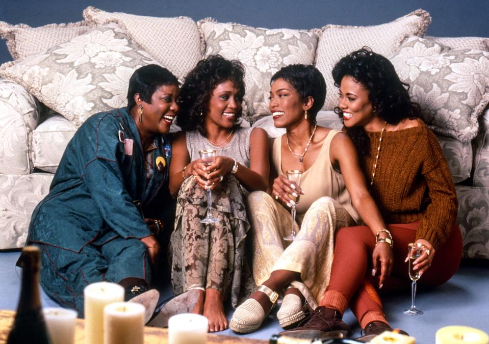 "<p>Any movie containing this star-studded cast (Angela Bassett, Lela Rochon, Whitney Houston, and Loretta Divine) cast should make you want to tune in. <em>Waiting to Exhale</em> follows four friends as they navigate their careers, family, and relationships. And it contains one of my all-time favorite Angela Bassett scenes. I hope I never have to light my future husband's car on fire, but if I do, I hope I look just as good as she does. — <em>KH</em></p> <p><a href=""https://www.hulu.com/movie/waiting-to-exhale-8654c4dc-67ba-4754-af21-d7de6206949c?entity_id=8654c4dc-67ba-4754-af21-d7de6206949c"" rel=""nofollow noopener"" target=""_blank"" data-ylk=""slk:Stream here"" class=""link rapid-noclick-resp""><em>Stream here</em></a></p>"