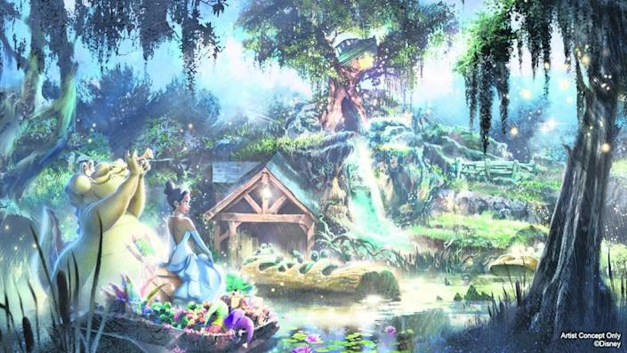 """Disney will re-theme Splash Mountain at its Florida and California parks to the film """"The Princess and the Frog,"""" which featured Disney's first Black princess."""