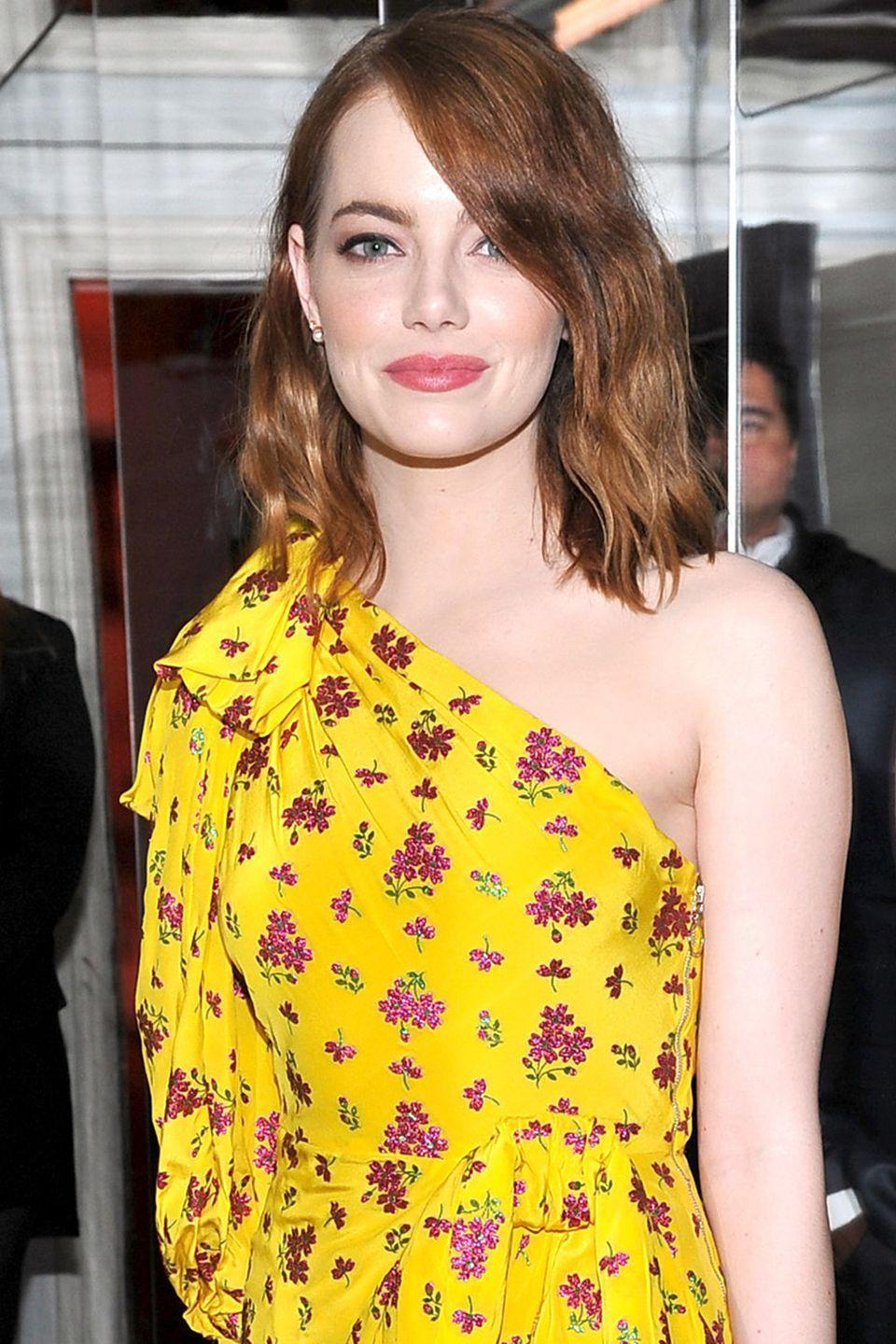 """<p><strong>Born</strong>: Emily Jean Stone</p><p>The <em>La La Land</em> actress told <em> <a href=""""https://www.wmagazine.com/story/emma-stone-was-nervous-about-singing-in-la-la-land"""" rel=""""nofollow noopener"""" target=""""_blank"""" data-ylk=""""slk:W magazine"""" class=""""link rapid-noclick-resp"""">W magazine</a></em> that she had to rebrand herself when she was 16 years old because there was already an Emily Stone in Hollywood. """"I changed it to Emma because you know it's closer to Emily, but most people call me 'M,' that know me well,"""" the actress <a href=""""https://www.wmagazine.com/story/emma-stone-was-nervous-about-singing-in-la-la-land"""" rel=""""nofollow noopener"""" target=""""_blank"""" data-ylk=""""slk:explained"""" class=""""link rapid-noclick-resp"""">explained</a> to the publication. </p>"""