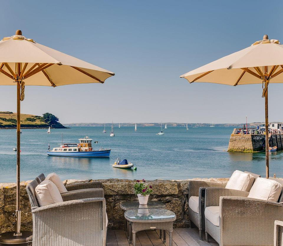 """<p>Don't let the name deceive you because the last thing you'll want to do is be idle upon stepping foot at this hotel in Cornwall. Located in St Mawes, <a href=""""https://www.standard.co.uk/escapist/travel/best-seaside-town-uk-visit-cornwall-st-mawes-a4502251.html"""" rel=""""nofollow noopener"""" target=""""_blank"""" data-ylk=""""slk:voted"""" class=""""link rapid-noclick-resp"""">voted </a>the UK's best seaside town last year, this spot has four harbour view rooms in an adjoining cottage (two of which are dog-friendly, FYI) and is home to some of the finest food the Cornish coast has to offer, (Chef Dorian Janmaat - ex Le Manoir - is at the helm with new spring menu). Whether you love your surfing, swimming and kayaking or prefer to crawl up with a good book overlooking the sea with a glass of wine, The Idle Rocks has everything you could possible want from a staycation, and more. </p><p><a class=""""link rapid-noclick-resp"""" href=""""https://idlerocks.com/"""" rel=""""nofollow noopener"""" target=""""_blank"""" data-ylk=""""slk:BOOK HERE"""">BOOK HERE</a></p>"""
