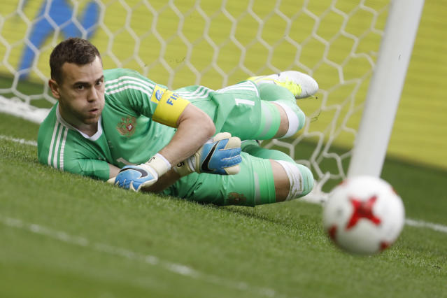 <p>Age: 32<br>Caps: 104<br>Position: Goalkeeper<br>Akinfeev is the national captain and has kept more clean sheets for Russia than any other keeper in their history, as well as featuring more than 500 times for CSKA Moscow. </p>