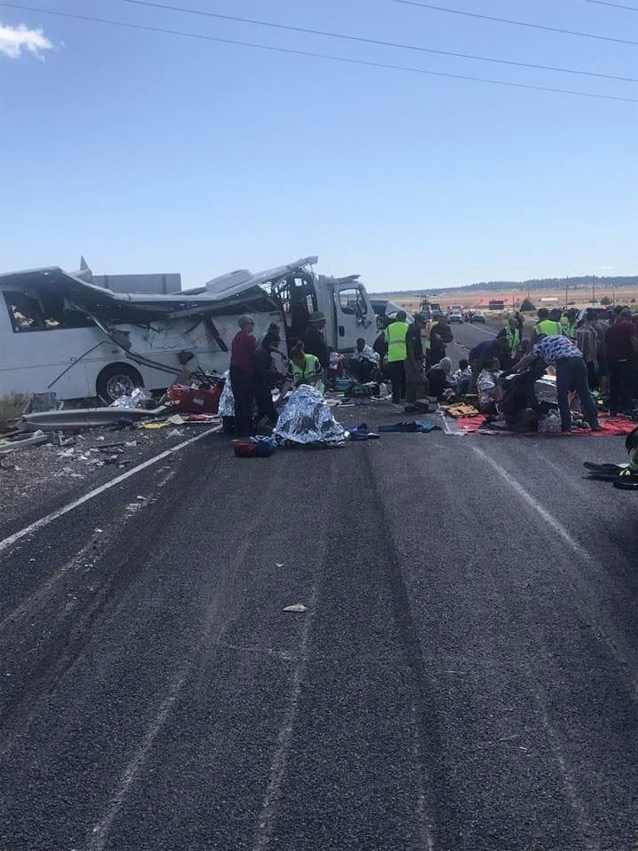 A tour bus carrying Chinese-speaking tourists crashed Friday near Bryce Canyon National Park, killing at least four people and critically injuring more than a dozen others, according to the Utah Highway Patrol.