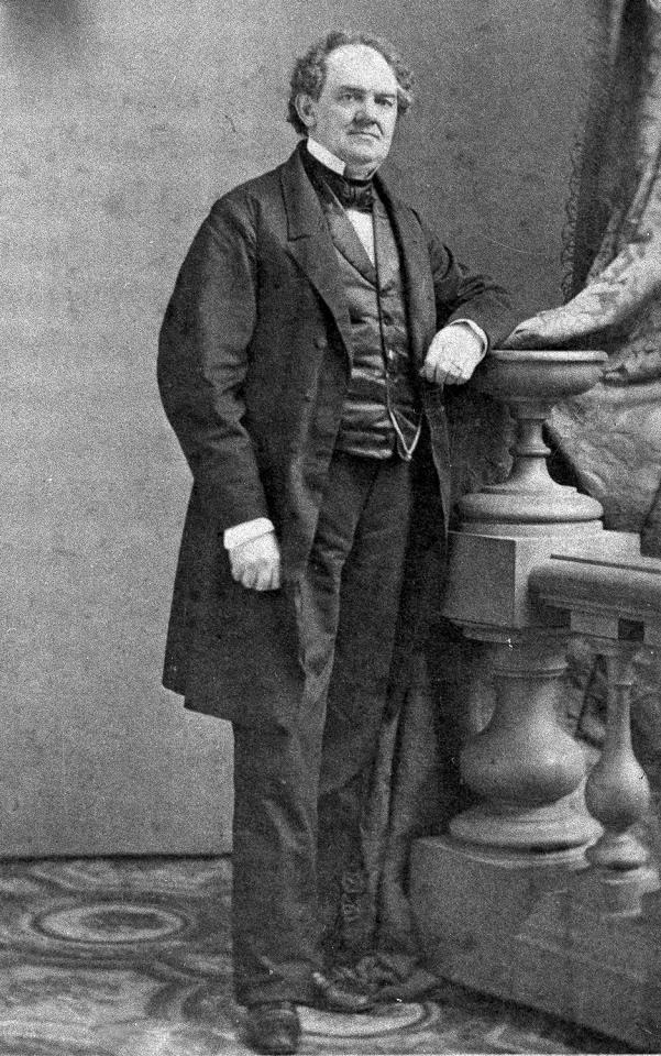 """<p>American showman P.T. Barnum is shown in 1882 at an unknown location. In his lifetime, Barnum was an entrepreneur, museum owner, politician, journalist, impressario and creator of his circus """"The Greatest Show on Earth"""" in 1871. In 1881 he merged with his competitor and formed Barnum & Bailey Circus. Barnum was born in Bethel, Ct., in 1810 and died in 1891. (AP Photo) </p>"""