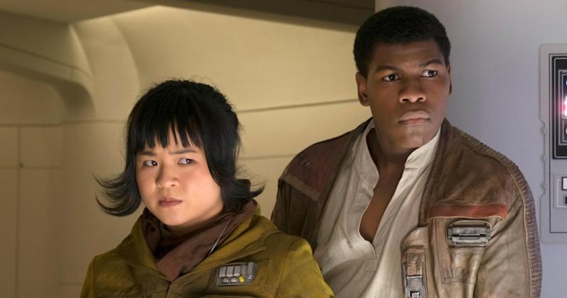 Kelly Marie Tran and John Boyega in Star Wars: The Last Jedi (Credit: Disney)