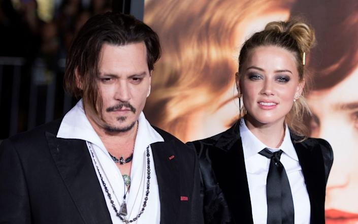 """Hollywood star Johnny Depp on November 2, 2020 lost his libel lawsuit against British newspaper The Sun for branding him a """"wife-beater"""" - AFP"""