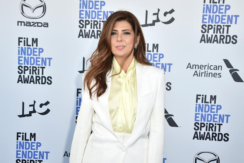 Marisa Tomei attends the Independent Spirit Awards on February 08, 2020. (Photo by David Crotty/Patrick McMullan via Getty Images)