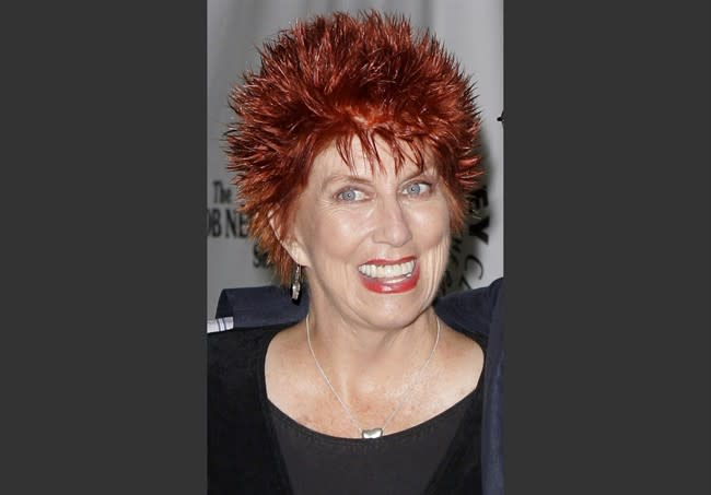 """FILE - This Sept. 5, 2007 file photo shows Marcia Wallace during TV Land's 35th anniversary tribute to """"The Bob Newhart Show"""" in Beverly Hills, Calif. Wallace, who played a receptionist on the show, and the voice of Edna Krabappel on """"The Simpsons,"""" died Saturday Oct. 26, 2013. (AP Photo/Mark J. Terrill, file)"""