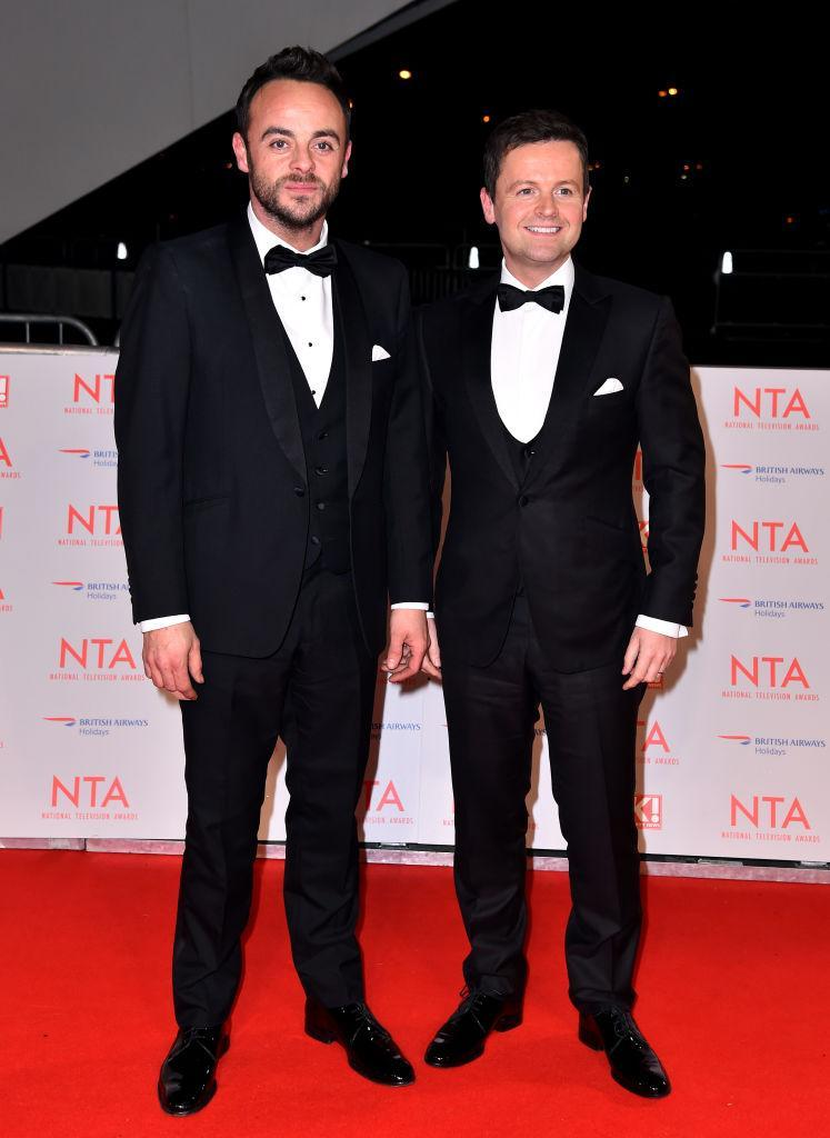 <p>The nation's favourite double act donned co-ordinating suits for the awards ceremony. <em>[Photo: Getty]</em> </p>