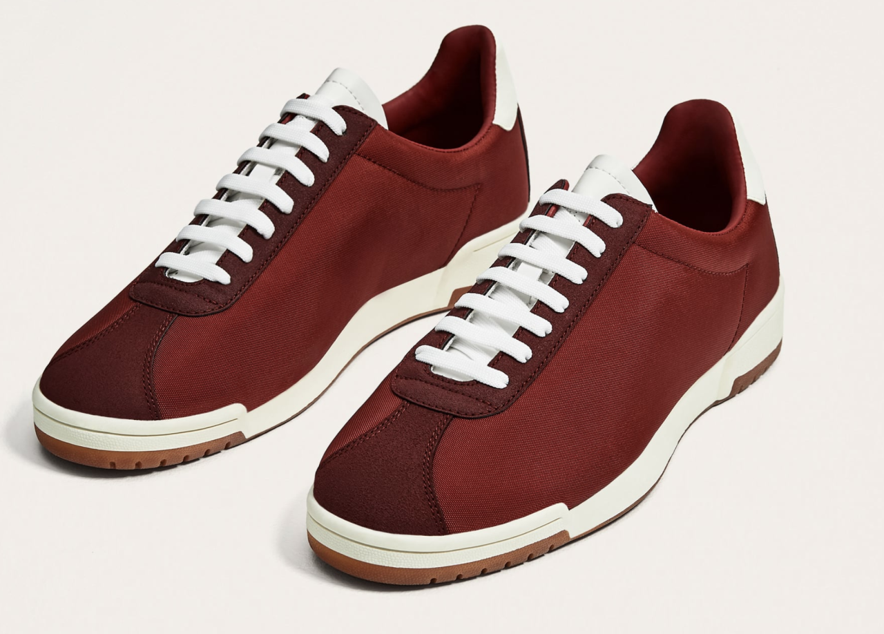<p>If you'd rather purchase a new pair of sneakers than new tops, ALDO's red retro sneakers are both cool and nostalgic. (Photo: ALDO) </p>
