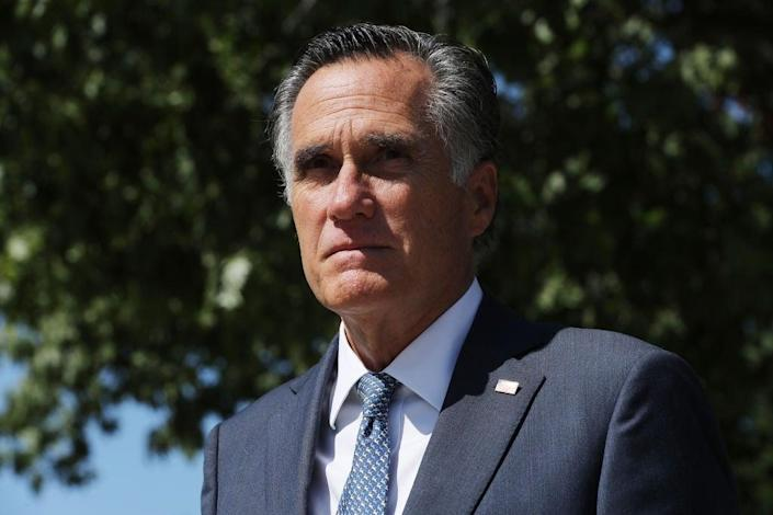 Senator Mitt Romney has been the only GOP senator willing to openly criticise Donald Trump. (Getty Images)