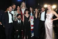 """<p>In the wake of <a href=""""https://www.elle.com/uk/life-and-culture/a28297713/sophie-turner-joe-jonas-wedding-game-of-thrones-cast-happy/"""" rel=""""nofollow noopener"""" target=""""_blank"""" data-ylk=""""slk:Game of Thrones'"""" class=""""link rapid-noclick-resp"""">Game of Thrones' </a>departure from our TV screens, we can at least be comforted by the fact that the cast get together a lot.</p><p>Having clearly built long-lasting friendships on the hit series, which spanned eight years from 2011 until the final episode in May 2019, the cast don't let the fact that the show is no longer in production or on air get in the way.</p><p>The likes of <a href=""""https://www.elle.com/uk/life-and-culture/culture/a29608262/emilia-clarke-beyonce-meet/"""" rel=""""nofollow noopener"""" target=""""_blank"""" data-ylk=""""slk:Emilia Clarke"""" class=""""link rapid-noclick-resp"""">Emilia Clarke</a>, Jason Momoa, <a href=""""https://www.elle.com/uk/life-and-culture/a29083259/sophie-turner-survivor/"""" rel=""""nofollow noopener"""" target=""""_blank"""" data-ylk=""""slk:Sophie Turner"""" class=""""link rapid-noclick-resp"""">Sophie Turner</a>, Maisie Williams and Kit Harington still hang out and, as a bonus for fans, regularly document these reunions on Instagram and social media. </p><p>Here's all the times, since the end of Game of Thrones, that the cast mates have reunited:<br></p>"""