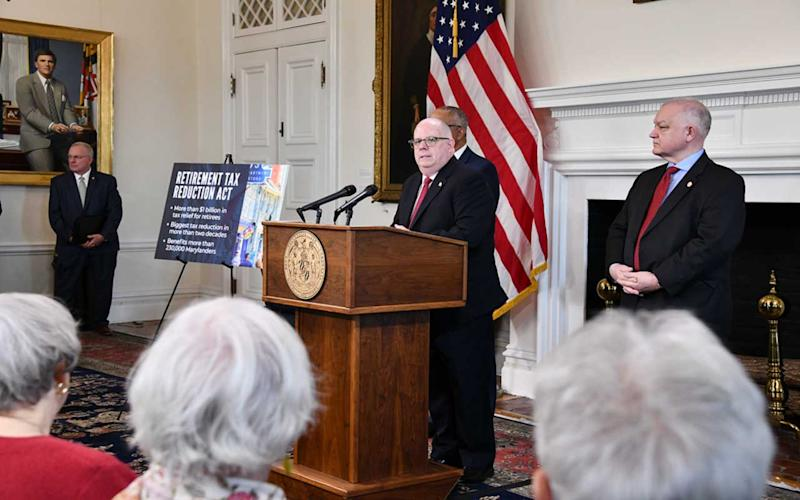 Maryland Governor Proposes Major Tax Cut for Retirees