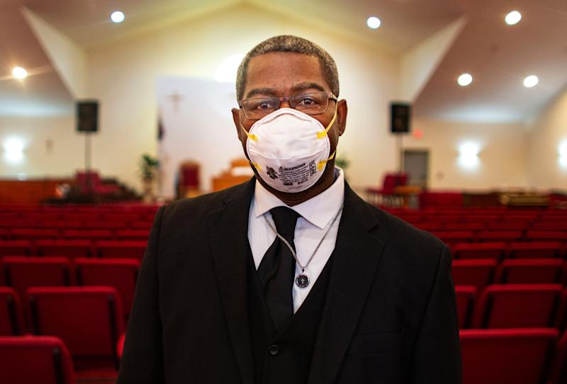 The Rev. Tim Christopher is one of the armed members of the security team at his Minneapolis church.