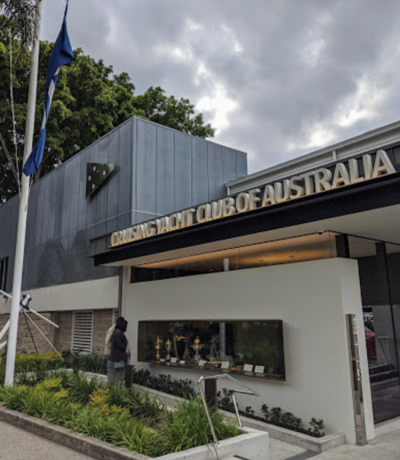 Two positive cases also visited the Cruising Yacht Club Australia in Rushcutters Bay on July 23, 24 and 26. Source: Google Maps/Mark Leudtke