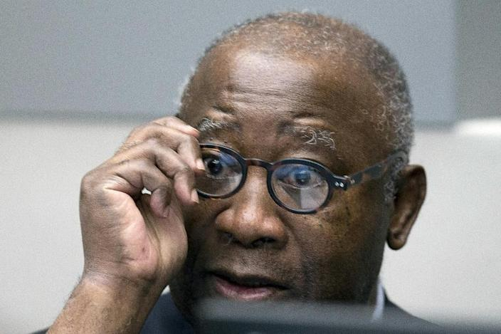 In the dock: Gbagbo at the opening day of his trial in January 2016 (AFP Photo/Peter Dejong)