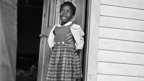 PHOTO: Ruby Nell Bridges at age 6, was the first African American child to attend William Franz Elementary School in New Orleans after Federal courts ordered the desegregation of public schools. (Bettmann Archive)