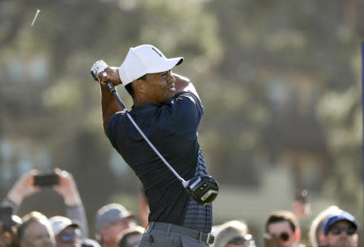 Tiger Woods, back in action at Torrey Pines. (AP)