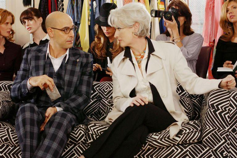 Together with his friend Stanley Tucci in The Devil Wears Fashion