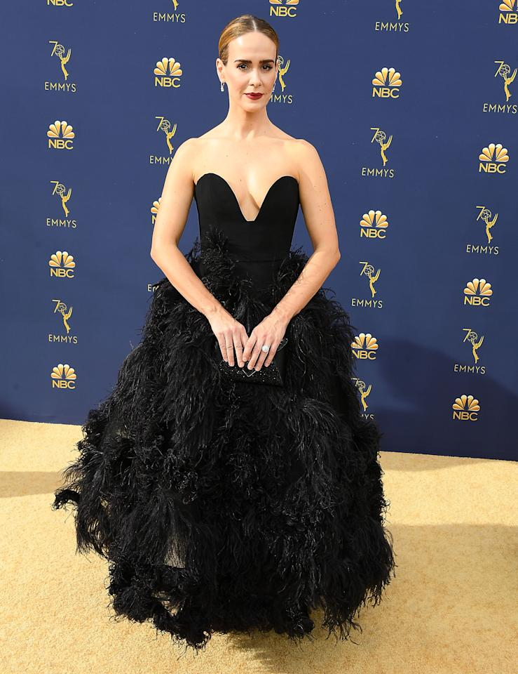 <p>Wearing Oscar de la Renta. <em>[Photo: Getty]</em> </p>