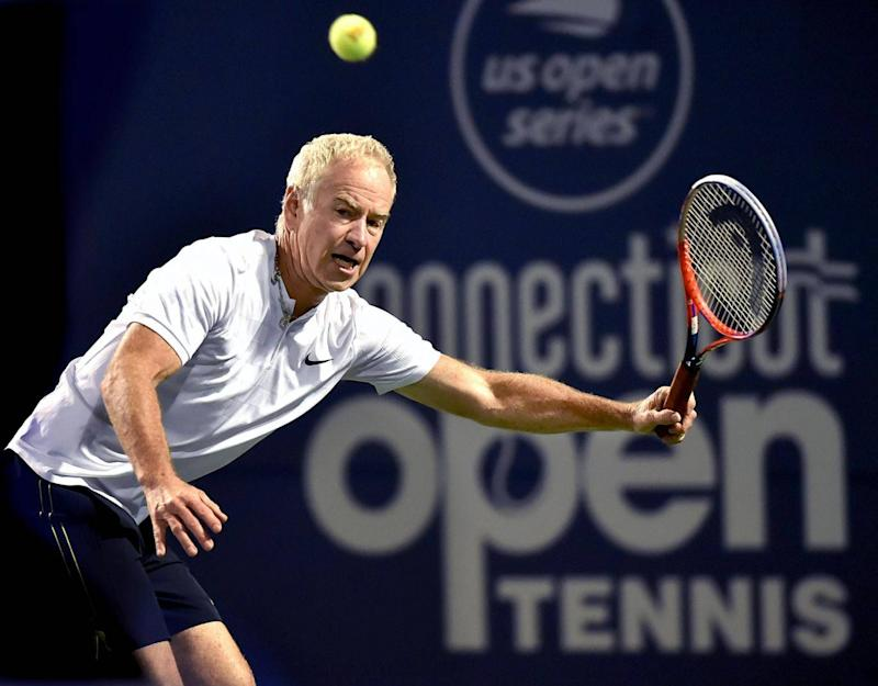John McEnroe playing at the recent Legend's Connecticut Open (AP)