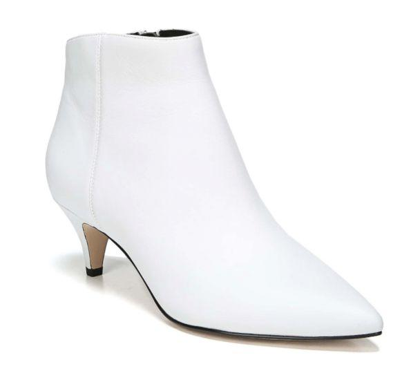 PHOTO: The boot of the season is this white pointy-toe number. They give you a lift and brighten your look. Wear them with jeans or your denim skirt to embrace the trend. (Nordstrom)
