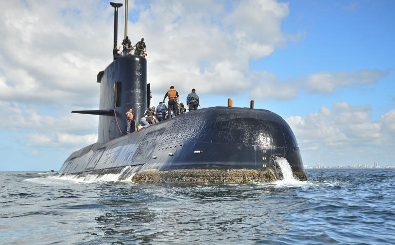 USA crew finds missing Argentine submarine