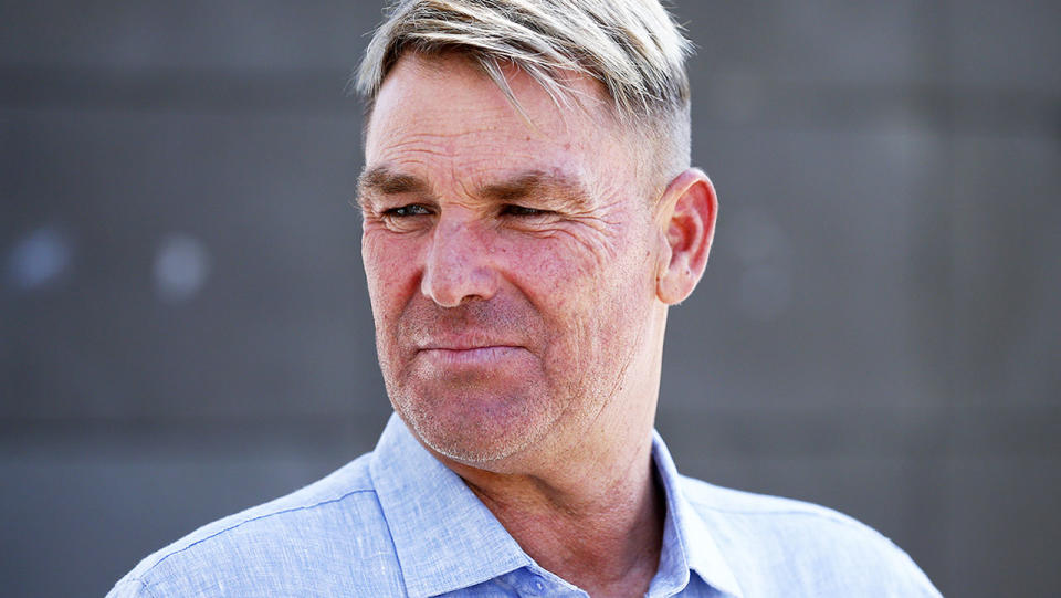 Shane Warne, pictured here speaking to the media at the MCG.